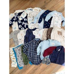23-piece baby boy bundle: 0-3 month
